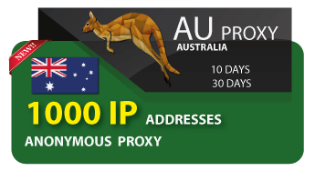 AUSTRALIA proxy 1000 IP addresses
