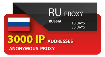 Russia 3000 IP proxy