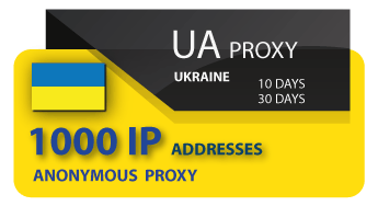 Ukraine Proxy 1000 IP address