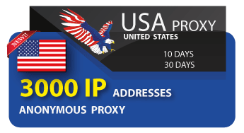USA 3000 IP addresses of anonymous proxies