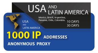 USA & LATINA Proxy List 1000 IP